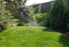 závlaha trávníku