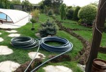 příprava na závlahu zahrady