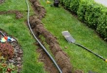 drážka pro potrubí - drnování