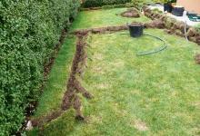Drnování trávníku - Prostějov